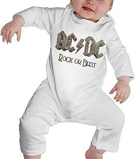 Pimkly ACDC Baby Langarm Strampler Schlaf und Spiel 6M-24M Schwarz