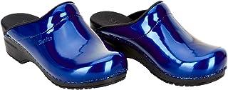 Sanita | Patent Clog | Original Handmade | Flexible Leather Clog for Women