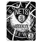 NORTHWEST NBA Brooklyn Nets Raschel Throw Blanket, 60' x 80', Shadow Play