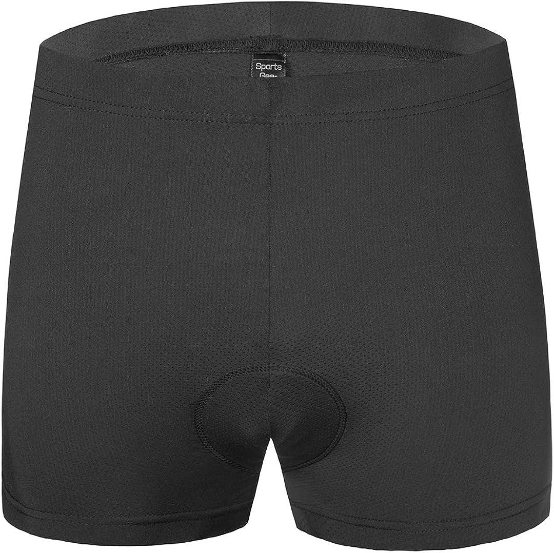 qualidyne Herren Fahrrad Unterw/äsche Shorts 3D Gepolstert Bike Unterhose Fahrrad MTB Unterhose Atmungsaktiv /& Bequem