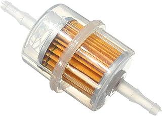 Ndier Universal engie Filtro de Combustible Filtro de Combustible con garfio Apto para 6mm 8mm Diámetro Interior Combustible línea Nippel ATV Moto Cortacésped Auto Accesorios