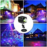 Mini Portable Cordless RGB Laser Party Light, Rechargable Sound Activated DJ Disco Lights with Remote Control, 32 Patterns and 4 Modes and 2500mhA Built-in Battery, Lights for Parties, Bar, Stage, KTV