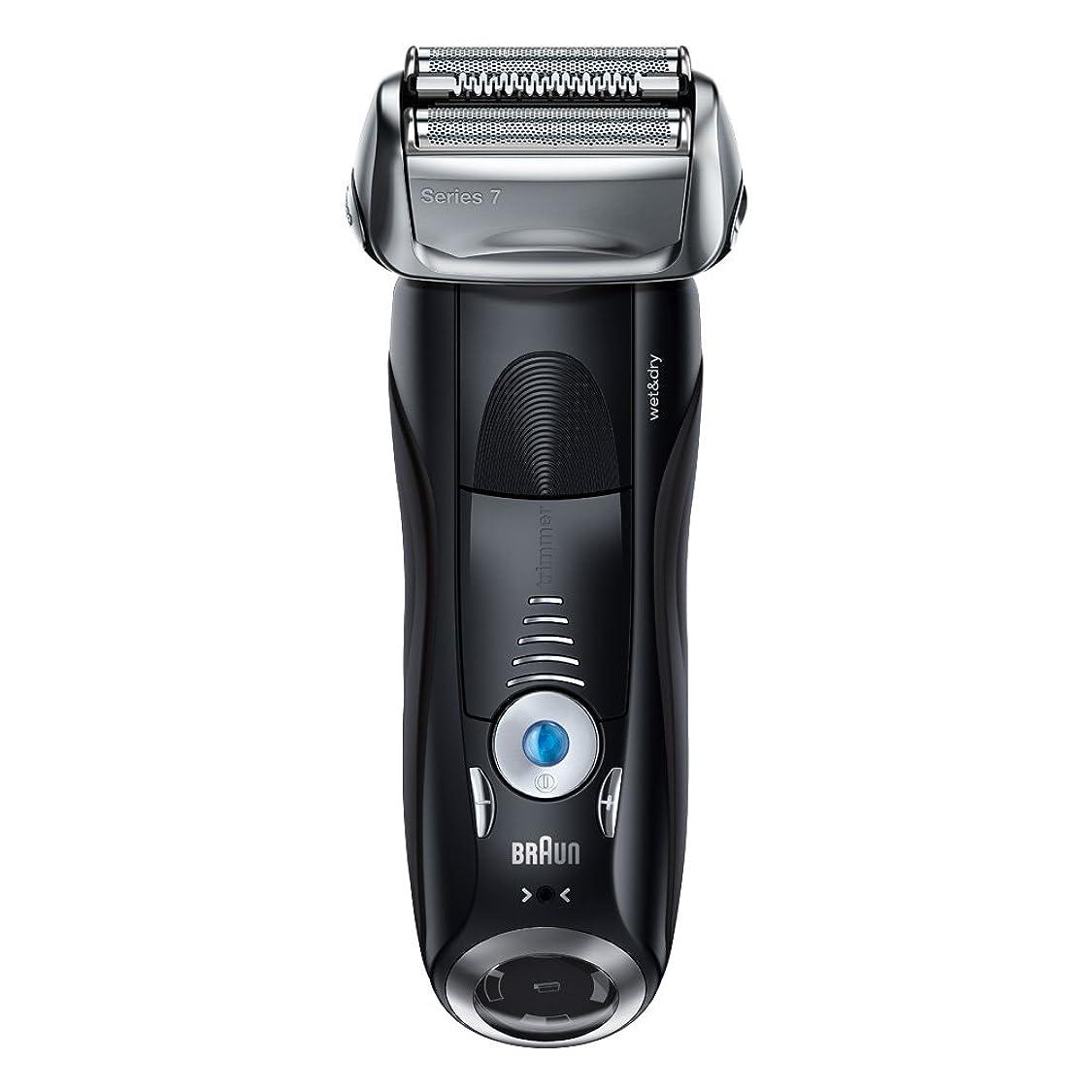 余剰哲学スカーフブラウン メンズ電気シェーバー シリーズ7 7842s 4カットシステム 水洗い/お風呂剃り可