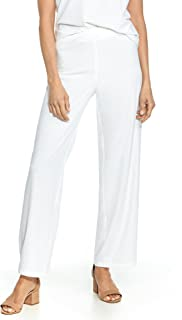 white feather pants
