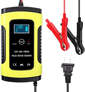 Romacci 12V 6A Full Automatic Car Battery Charge Device Intelligent Power Charge Pulse Repairing Chargers Wet Dry Leadacid...