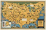 USA Native American Indian Tribes | Pictorial Map Wall Poster (23'x35')