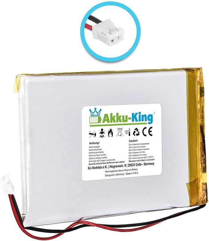 Akku-King Akku kompatibel mit Sandisk 805193192 16GB 32GB SMDX10R Li-Polymer 730mAh f/ür Sansa View 8GB