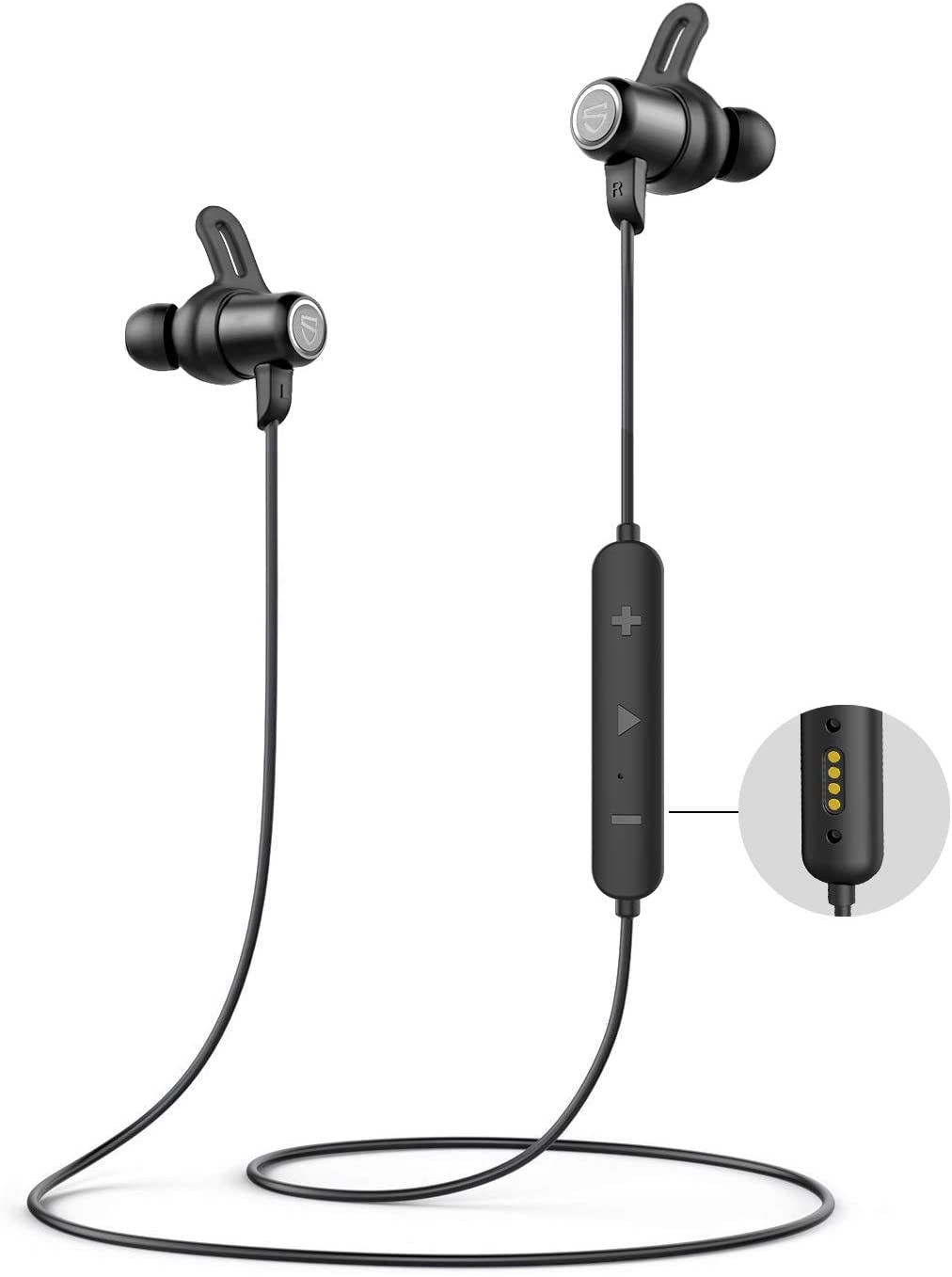 SoundPEATS Q35 HD Neckband Bluetooth Headphones IPX8 Waterproof Wireless Earphones for Sports in-Ear Stereo Bluetooth 5.0 Earbuds with Magnetic Charger Built-in Mic CVC 6.0 14 Hours Playtime
