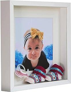 comprar comparacion BD ART 28 x 28 cm Box 3D Marco de Fotos con Paspartu 20 x 20 cm, Blanco