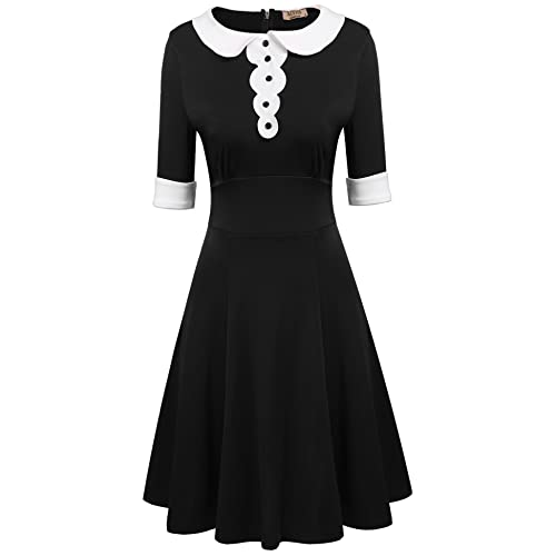 Half White Half Black Dress Amazon