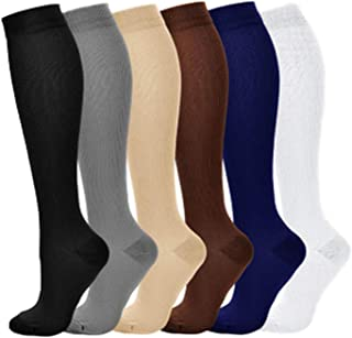 Casual Compression Socks for Men Stretch Pressure Calf High 15-20mmHg