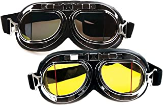 Halloween Goggles - Kaleidoscope Rave Steampunk Goggles with Rainbow Glass Lens
