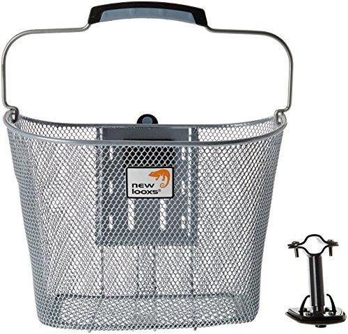 New Looxs Toscane Smart Lock fietsmand, zilver, 34 x 25 x 25 cm