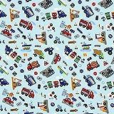 Fabulous Fabrics Jersey hellblau, Fahrzeug, 165cm breit
