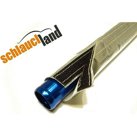 1m Alu Titan Hitzeschutzschlauch Id 15mm Klettverschluss Heat Sleeve Thermoschutz Isolierschlauch Kabelschutz Auto