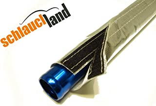 1m Alu Titan Hitzeschutzschlauch ID 25mm Klettverschluss *** Heat Sleeve Thermoschutz Isolierschlauch Kabelschutz