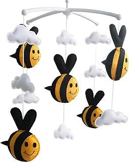 bébé Mobile Berceau Mobile musical fait main pour lit de bébé fait main Jouet abeille