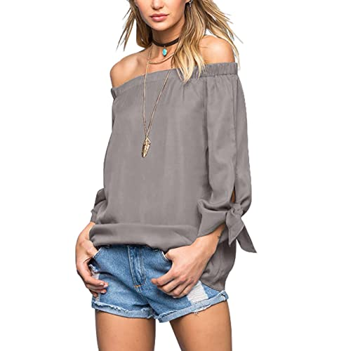 7cc018638fcc4e Just Quella Women s Off The Shoulder Top Blouse 8422