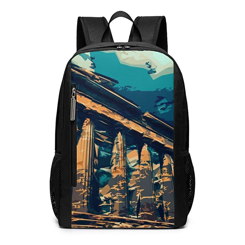Parthenon Greece Ancient History Outdoor Travel Laptop Backpack Travel Accessories, Fashionable Backpack Suitable for 17 Inches