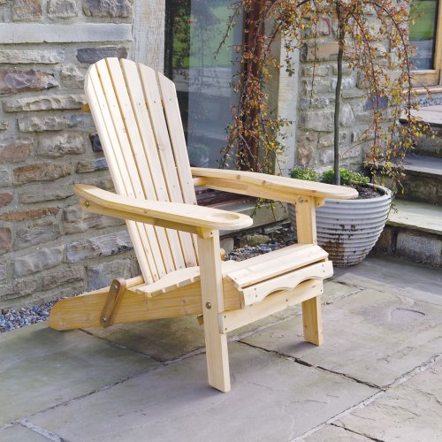 Trueshopping Outdoor Adirondack Garden Patio Chair - Armchair with...