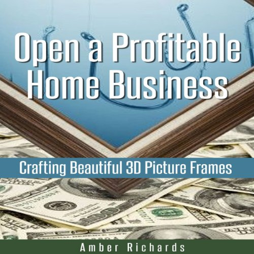 Open a Profitable Home Business Crafting Beautiful 3D Picture Frames audiobook cover art