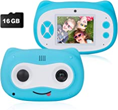 SUNGLIFE Kids Camera, Digital Dual Camera for Boys Gifts, 8.0MP Rechargeable Children Camcorder with 2.8' Screen, 4X Digital Zoom, Gift for 3-12 Years Old Girls Boys Party Outdoor (Blue)