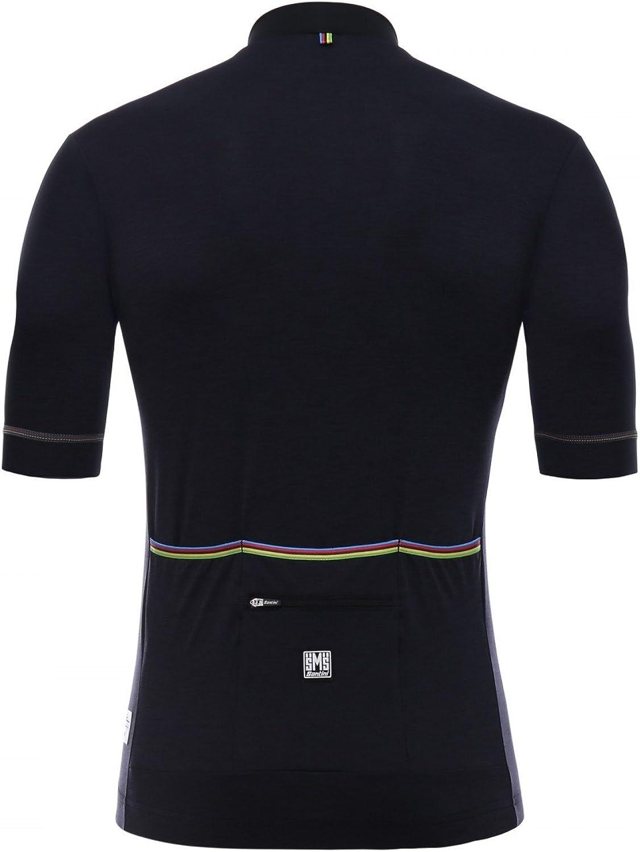 Santini UCI Rainbow Design Maillot /à Manches Courtes Homme
