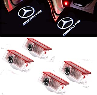 4 X LED Coche puerta logotipo de la sombra de luz Lámparas de bienvenida de cortesía Luces, Ghost Shadow 3D Proyector