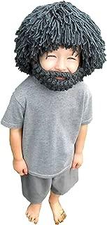 MSFGJZM Creative Original Barbarian Knit Hair Beard Hat Roman Knight Cos Play Beanie Hat