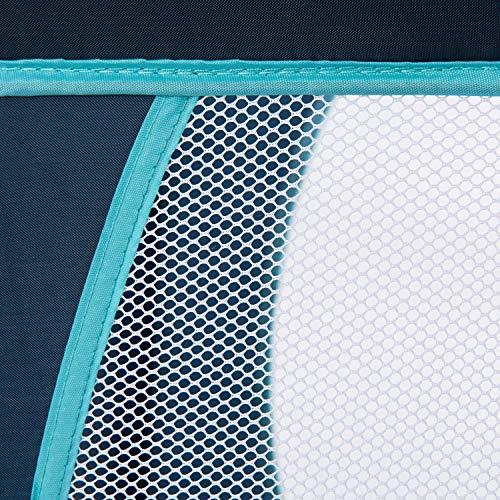 Hauck Dream'n Play Plus - Cuna de viaje 3 piezas, 120 x 60 cm, de 0 meses hasta 15 kg, con colchon, bolsa de transporte, apertura lateral, plegable, ligera y estable, azul