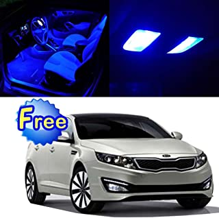SCITOO LED Interior Lights 10pcs Blue Package Kit Accessories Replacement for 2011-2016 KIA Optima