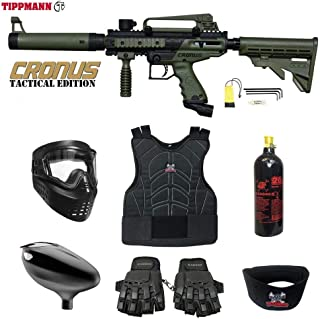 Maddog Tippmann Cronus Tactical Beginner Protective CO2 Paintball Gun Package - Black/Tan