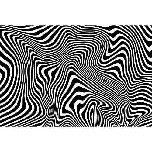 Puzzle 1000 Teile für Erwachsene, Impossible Puzzle, Zebramuster Schwieriges Schwer Puzzles Moderne Modekunst für die Inneneinrichtung Weiß und Schwarz