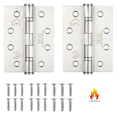 1 x Pair 40mm x 40mm Butt Hinges Stainless Steel 316 Marine Grade No Rusting