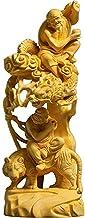 PPCP Statue Buddha Wood Dragon Tiger Arhat Mythological Figure Boxwood Zen Feng Shui Crafts Bodhisattva Home Decoration