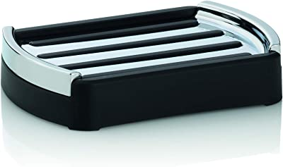 Kela ケラ ソープディッシュ ブラック サイズ:12.5×9×H2.5cm ソープディッシュ ブラック Marta 24200