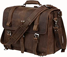 LBYMYB Men's First Layer Cowhide Handbag Briefcase Backpack Messenger Bag Travel Bag Large Capacity, 42x23x31cm Business Briefcase