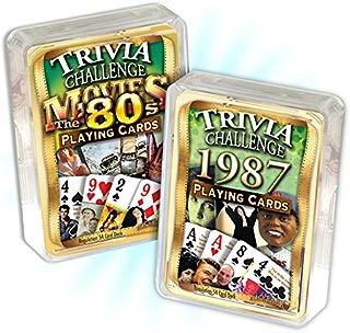Flickback Media, Inc. 1987 Trivia Playing Cards & 1980's Movie Trivia Combo: 1987 Birthday or Anniversary