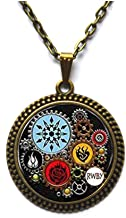 Jewelry tycoonFashion Necklace RWBY Or Jnpr Inspired Steampunk Pendant Necklace Glass Cabochon Necklace