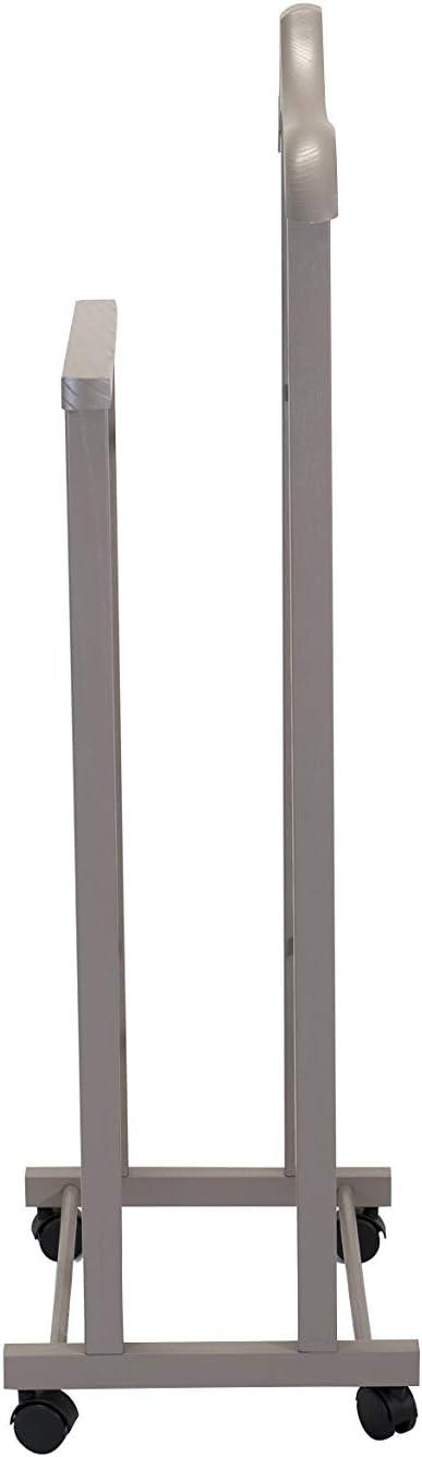 Tomaino Porteur de chambre double en bois avec roues Ambre taupe