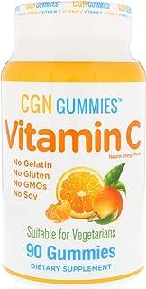 California Gold Nutrition, Vitamin C Gummies (Pack of 2), Gluten-Free, Non GMO, Natural Orange Flavor, 90 Gummies, CGN