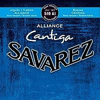 サバレス アリアンス カンティーガ SAVAREZ ALLIANCE CANTIGA Classic Guitar Strings (510AJ High Tention ハイテンション, 1セット)