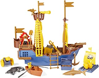 Toy Pirate Ship Playset w/ Ship, Pirates, Cannons, Treasure, Weapons & More!