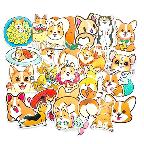 ZXXC 25Pcs Welsh Corgi Pembroke Cartoon Stickers Cute Animals Dog For Moto Car & Suitcase Cool Laptop Skateboard Stickers