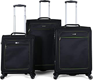 Stractic soft case trolley 3 pcs set with 4 wheel, 9854-Black