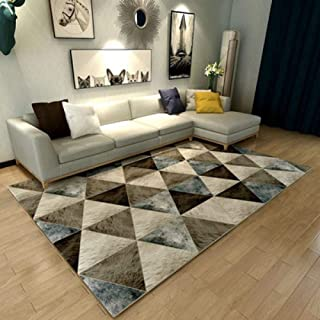 ZTBXQ Carpets For Living Room Home Decor Floor Rugs Washable Mats Bedroom Bedside Rugs Anti-Slip Office Chair Area Rug,Buff,800MMx1200MM