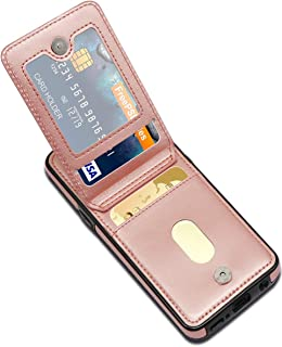 LakiBeibi Wallet Phone Case for Galaxy S9 Dual Layer Lightweight Premium Leather with Card Slots Magnetic Lock Folio Flip Protective Cover for Samsung Galaxy S9 5.8 Inch (2018) - Rose Gold