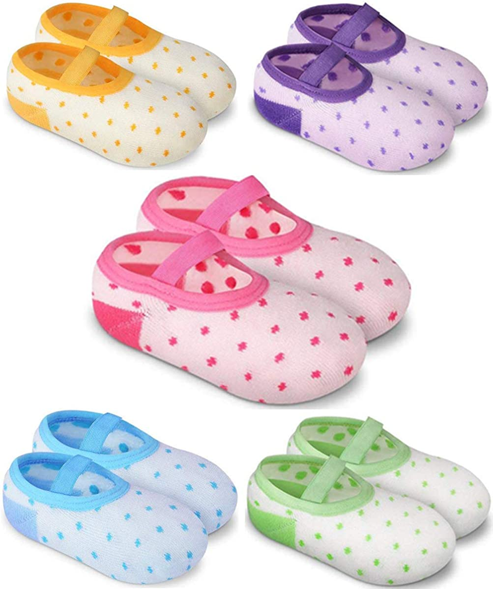 Financial sales sale YIISOO 5 Pairs Baby Socks Anti Slip Grip Sacramento Mall for with Toddlers