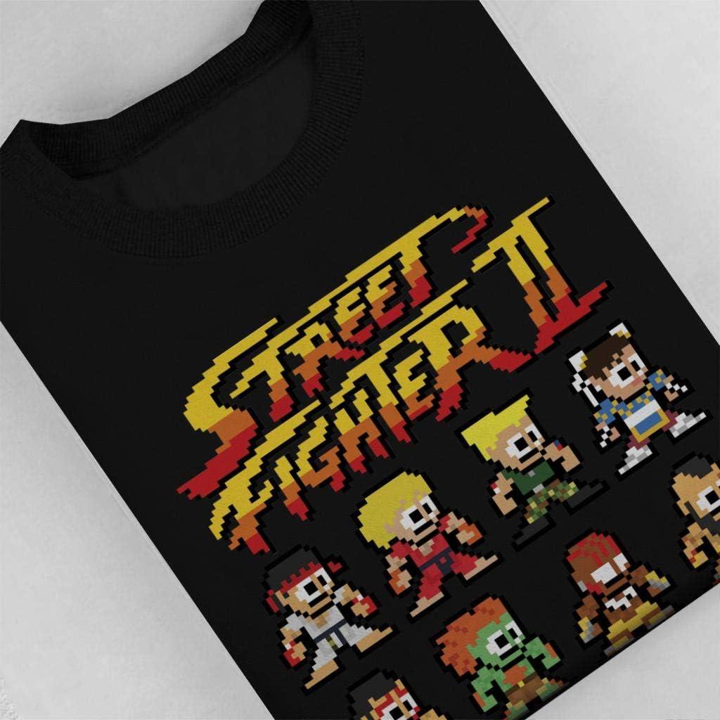 Street Fighter II Pixel Characters Men's Sweatshirt