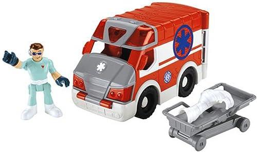 Imaginext Matt Medic and Ambulance Rescue Heroes Playset